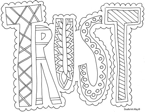 trust coloring page printable coloring