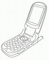 Coloring Cellphone Phone Cell Lineart Line Deviantart Popular Coloringhome 2008 sketch template