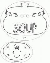 Soup Coloring Pages Stone Template Potato Colouring Pot Vegetable Printable Bowl Templates Sheets Dltk Crafts Milk Popular Chocolate Coloringhome Drawing sketch template