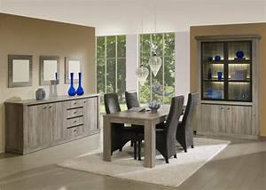 Salle a manger complete conforama table carree meuble et for Idee deco cuisine avec meuble salle a manger chene clair