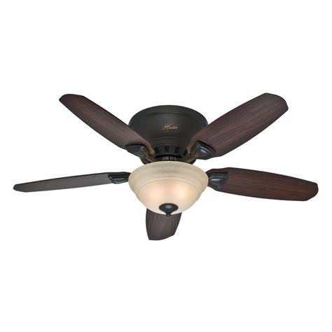 bronze ceiling fan light kit shop hunter louden 46 in premier bronze flush mount indoor
