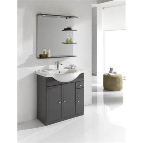 bains de si e meuble de salle de bains de 80 à 99 gris argent galice