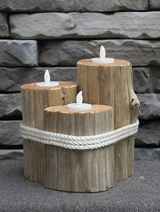 Tronc Bois Flotté : cr er un beau bougeoir avec un tronc d 39 arbre 20 id es d co bois flott et bougies ~ Dallasstarsshop.com Idées de Décoration
