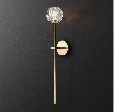 Rh Modern Bathroom Lighting by Rh Modern S Boule De Cristal Sconce Crafted Of Solid