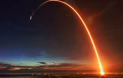 Rocket Launch Fire Trail Night Launching Science