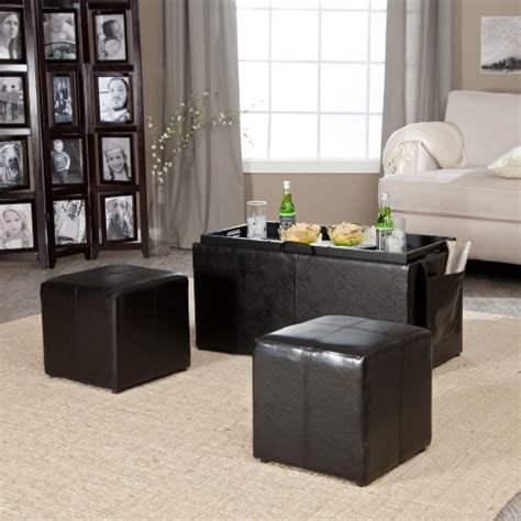 reversible ottoman coffee table 36 top brown leather ottoman coffee tables