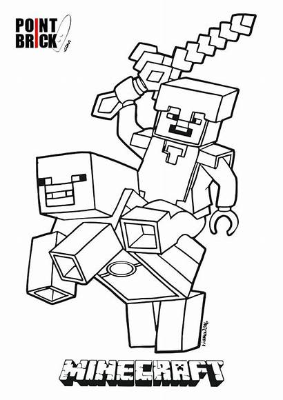 Minecraft Steve Drawing Coloring Pages Getdrawings