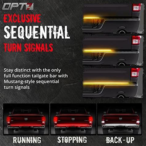 60 quot redline led tailgate light bar w sequential