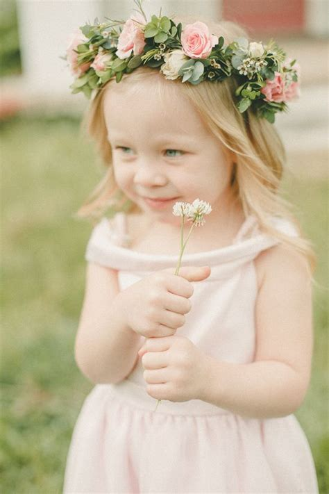 soft southern dream inspiration flower girl headpiece