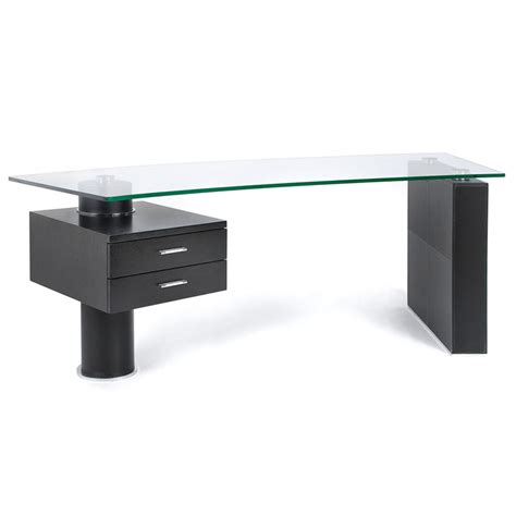 modern glass top desk modern desks tierney desk eurway modern furniture
