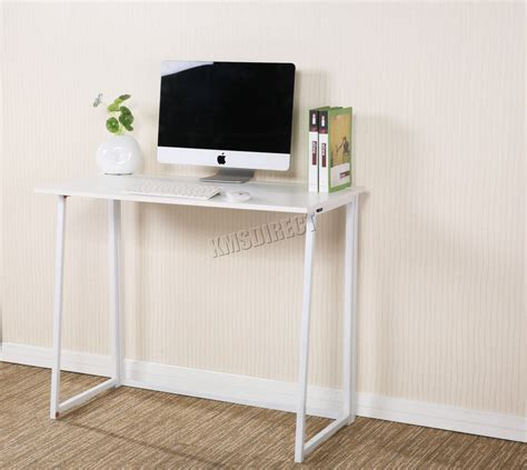 Small Pc Desk by Foxhunter Foldable Computer Desk Folding Laptop Pc Table