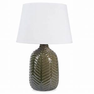 lampe en ceramique verte h 36 cm namibie maisons du monde With lampe maisons du monde