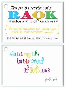 Images Of Random Acts Of Kindness Cards Templates Golfclub