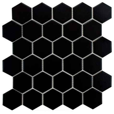 merola tile metro hex 2 in matte black 10 1 2 in x 11 in
