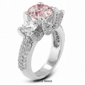 platinum three stone engagement rings with 136 total With pink stone wedding rings