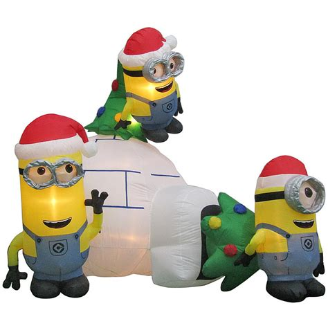 ft inflatable minions igloo scene airblown