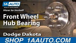 How To Install Replace Front Wheel Hub Bearing Dodge Dakota Durango 97-03 1aauto Com