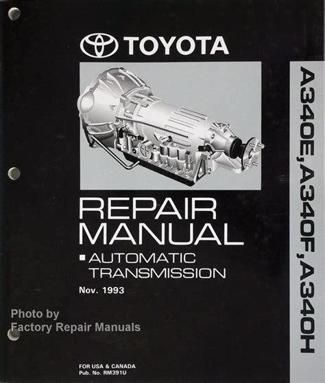how to download repair manuals 1995 toyota t100 transmission control toyota 4runner tacoma t100 supra previa automatic transmission repair manual a340e a340f a340h