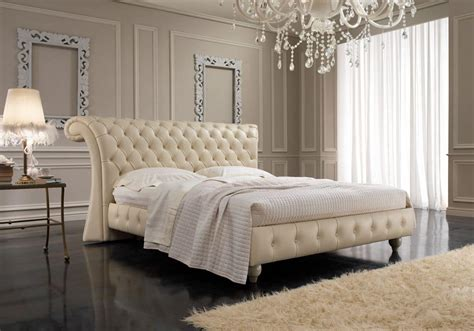 english style double bed capitonn headboard  bedrooms