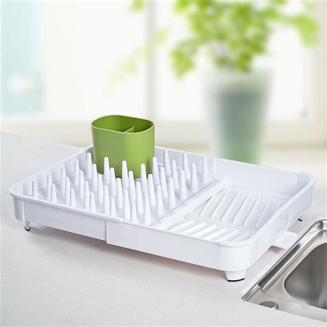 dish rack expandable plate drainer cutlery drain extend folding drying tray  racks holders