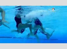NBC airs water polo wardrobe malfunction Shocked viewers