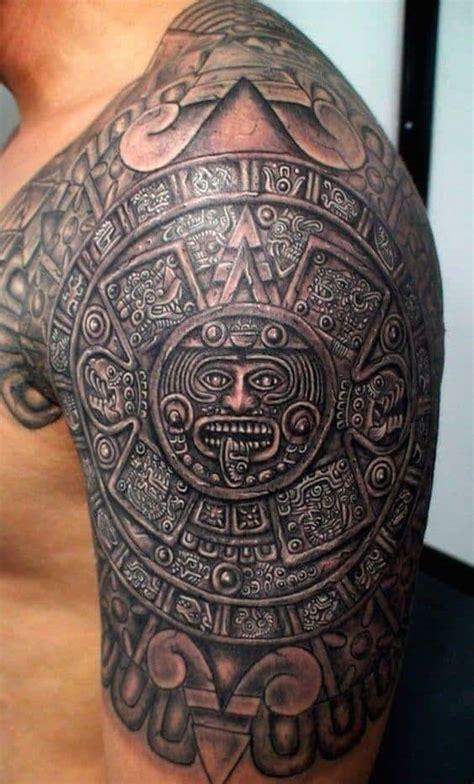 aztec tattoos  men ideas  designs  guys
