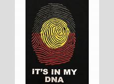 Aboriginal DNA Print TShirt Black