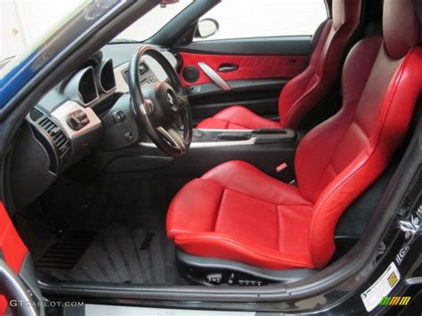 bmw red interior dream red interior 2006 bmw z4 3 0si roadster photo