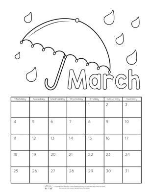 printable calendar  kids  itsybitsyfuncom