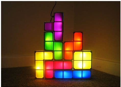 Tetris Stackable Led Desk L by Tetris Stackable Led Desk L Light Feelgift