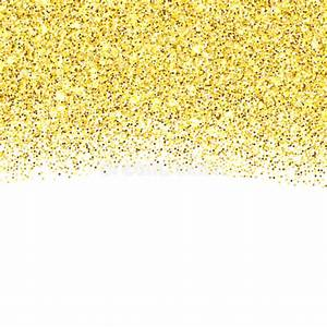Gold Glitter Textured Border Stock Vector - Illustration ...