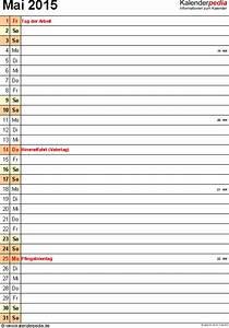 Excel Tage Aus Datum Berechnen : kalender mai 2015 als pdf vorlagen ~ Themetempest.com Abrechnung