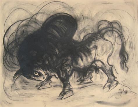bull  artist avijit roy impressionism painting