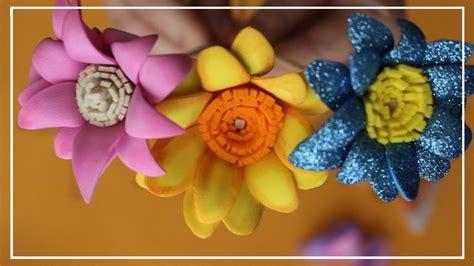 Pin en Flores Paso a paso Goma eva Foami (Tutorial
