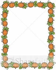 Pumpkin Border | Fall Borders