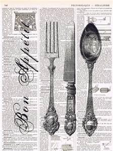 black and white clip art, kitchen printable, fork knife ...