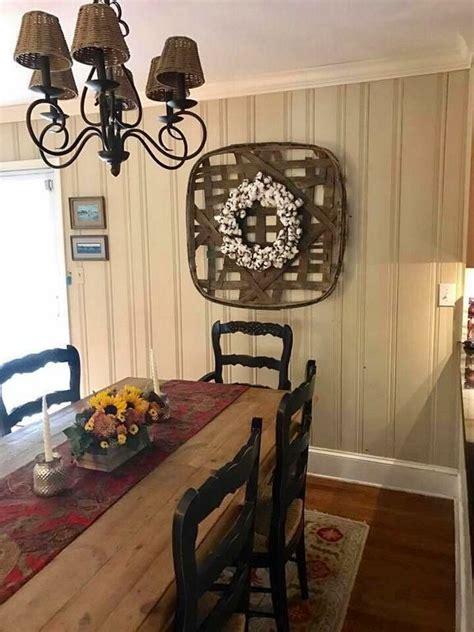 tobacco basket decor  primitive dining rooms