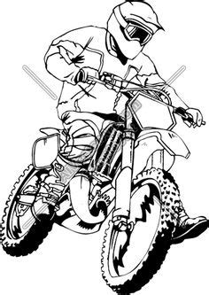 Dirt Bike Outline | Dirt Bike Coloring | Dirtbikes | Free