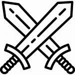 Espadas Swords Svg Gratis Icono Icons Lineal