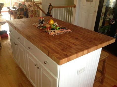 End Grain Butcher Block Island Top Made By Anchor