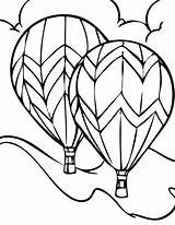 Coloring Air Balloon Tattoo sketch template