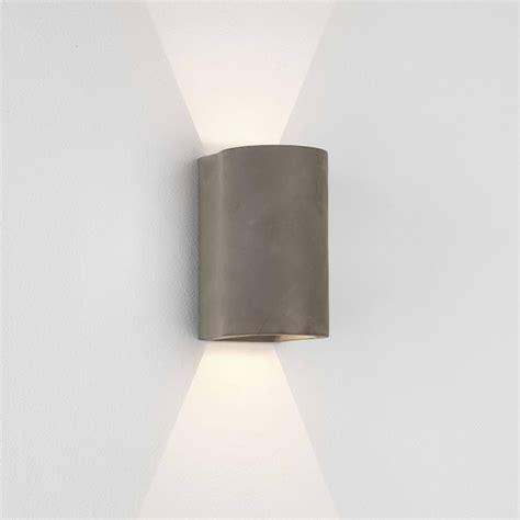 astro lighting 8187 dunbar 160 led up down wall light concrete