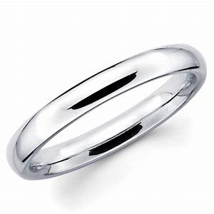 10k solid white gold 3mm plain men39s and women39s wedding With plain white gold wedding rings