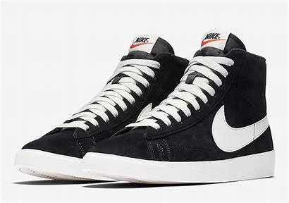 Nike Blazer Suede Mid Donne Nere Bianche