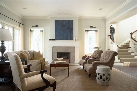 elegant  casual living room  fireplace