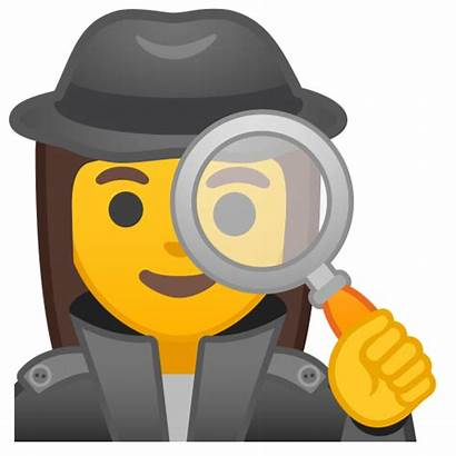 Detective Emoji Woman Icon Clipart Mujer Infidelidad
