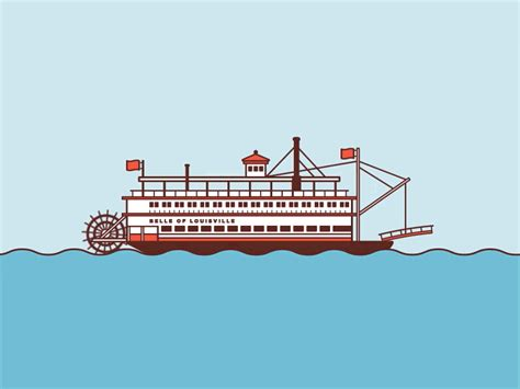 Ferry Boat Gif by Rollin On The River Gif By Casey Cooke Dribbble