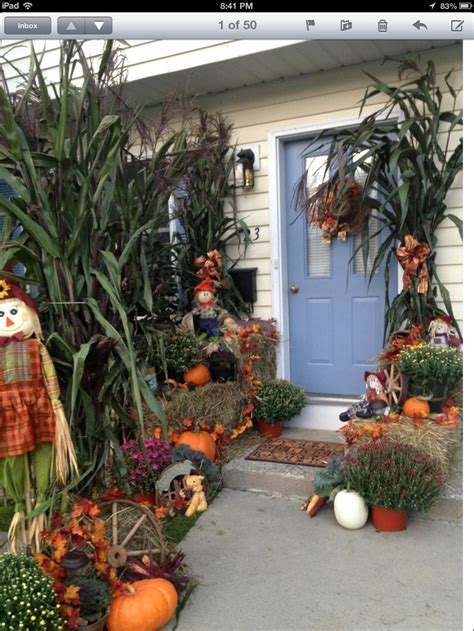 Outside Decoration Ideas - 1000 ideas about outside fall decorations on