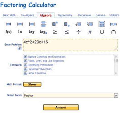 factoring trinomials calculator factoring