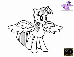My Little Pony Coloring Pages Twilight Sparkle Alicorn